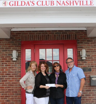 Gilda's Club Middle Tennessee cancer support Nashville donation check presentation